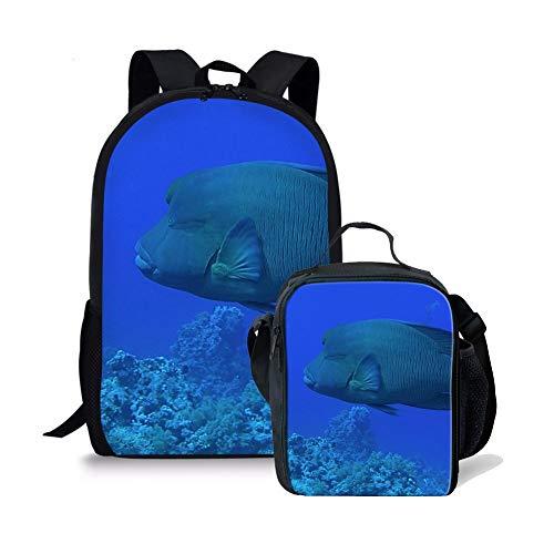 ltasche mit Lunchbox 17 Zoll großer Rucksack für Kinder (Color : Ab 5, Size : -) ()