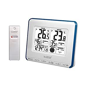 La Crosse Technology WS6812 Station de températures avec alertes et phases de lune - Blanc et Bleu