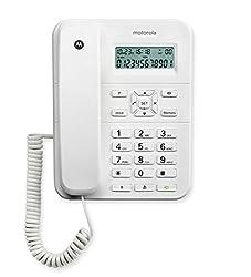 Motorola CT202i Corded Phone With Caller ID & Speaker Phone- White