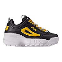 Fila Kids Disruptor II Sneakers (12, Black/Lemon/White)
