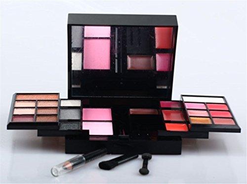 Pure Vie® 23 Couleurs Fard à Paupières Correcteur et Fard à Joues Rouge à Lèvre Palette de Maquillage Cosmétique Set #1 - Convient Parfaitement pour une Utilisation Professionnelle ou à la Maisons