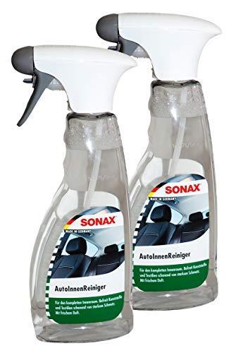 Preisjubel 2 x SONAX AutoInnenReiniger 500ml, Cockpit-Reiniger, Polsterreiniger, Textil
