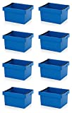8x Mehrwegbehälter 60 x 40 x 32 blau mit Stapelbügel inkl. Zollstock * stapelbar 60x40x32 600x400x320