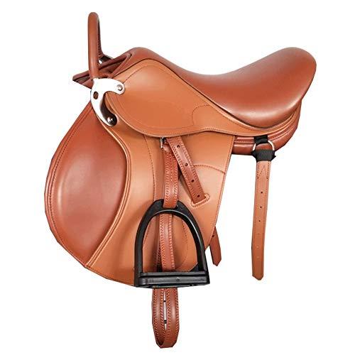 GUTYRE Sattel Set Ledermaterial Western Horse Sattel Tack Erhalten Lederband,B