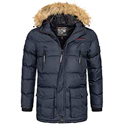 Geographical Norway Bravici MenŽs Winter Jacket Navy, Dimensione:L