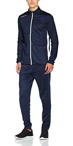 uhlsport Herren Essential Classic Anzug Trainingsanzug, Marine/Weiß, L