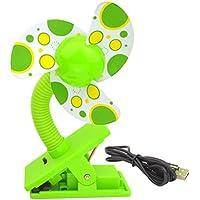 Sumersha - Mini ventilador de clip para cochecito de paseo; carritos; cunas
