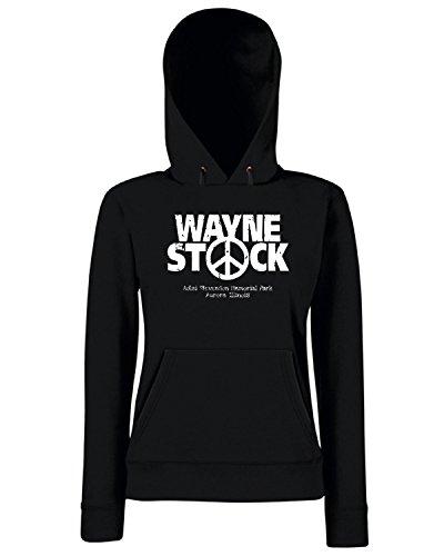 T-Shirtshock - Sweats a capuche Femme TF0061 inspired by Wayne s World Noir