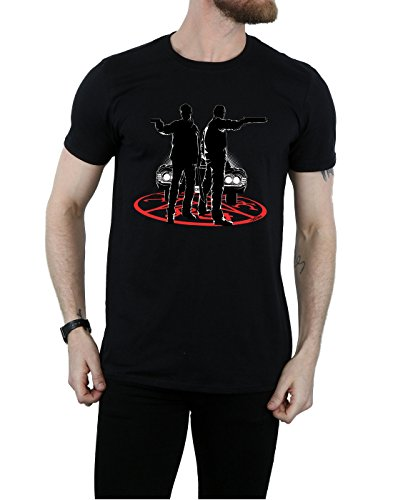 super.natural Supernatural Herren Sam and Dean Silhouette T-Shirt Schwarz