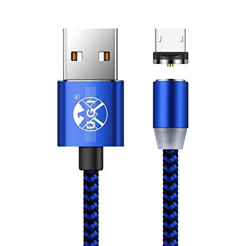 Mikro-USB-Kabel-magnetische androide 3.3ft/6.6ft/10ft Nylon umsponnene schnelle Charge2.0 A-Mann zum Mikro-B USB-Kabel-Magnet mit LED-Anzeige für Samsung S5,S6,S7,Huawei P8 Lite P9,Fahrwerk G2,G3 Lot
