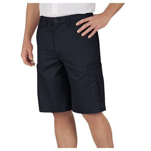 Dickies Littmann Workwear lr542bk Polyester/Baumwolle Relaxed Fit Herren Premium Industrie Cargo kurz mit verstecktem Schnappverschluss, schwarz, 33