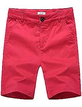 BASADINA Pantalones Cortos - Niño Pantalones Cortos de Verano con Cintura Ajustable, 4-14 Años