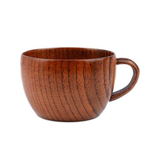 La haute tazze in legno naturale fatto a mano boccale di birra latte succo tazze da tè/caffè wooden color