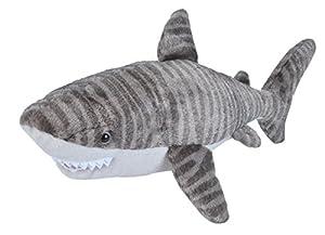 Wild Republic 22487 Tiger Shark Plush Soft Toy, Grey/White, 30 cm
