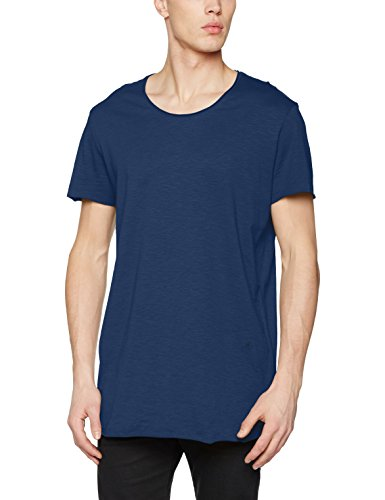 JACK & JONES Herren T-Shirt Jorbas Tee SS U-Neck NOOS Blau (Dark Denim Fit:Reg)