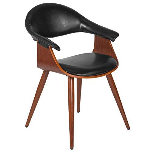 Flash Furniture Flash Furniture Beistellstuhl aus Holz Modern schwarz