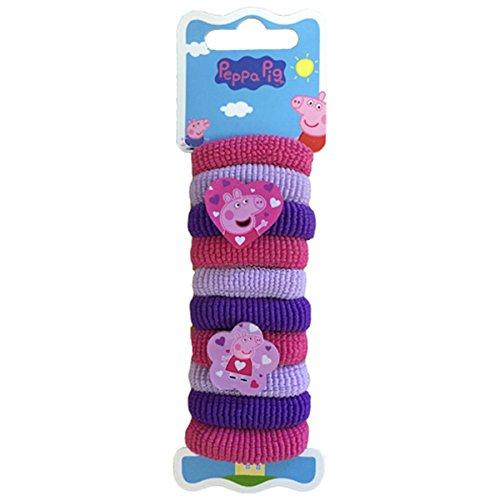 Joy Toy Peppa Pig Hair Bands (10, Mehrfarbig)