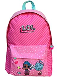 Kids LOL Surprise Bolsa Escolar, 43 cm, Rosa