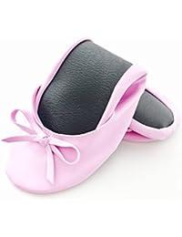 Ballerina2go - Femmes Ballerines, Couleur Noire, Taille 39/40