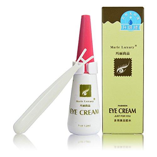 Tiptiper Colle Faux Cils, 12ml Faux Cils Adhésifs Colle Transparent Maquillage + Y Fourche