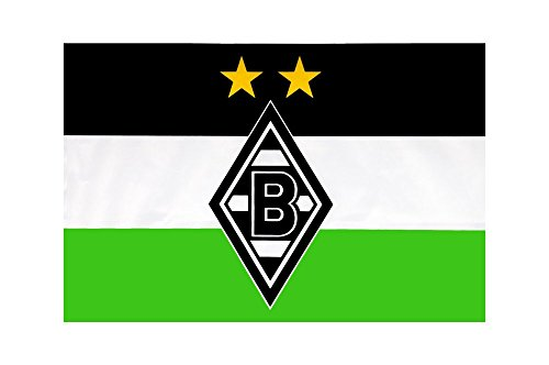 Flaggenfritze Flagge Borussia Mönchengladbach - 60 x 90 cm + gratis Aufkleber