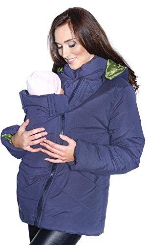 Mija / 3 in1 Tragejacke Umstandsjacke für Tragetuch Winterjacke für beide 1108A (XL, Blau)