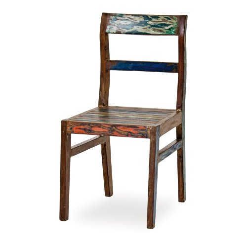 Belardo Seriata Fish-Boat Stuhl, ca. 46 x 46 x 89 cm, aus 'Recycled Boat Wood', Unikat
