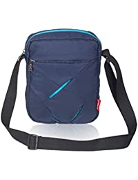 COSMUS Polyester 5 Ltr Navy Blue & Turquoise Blue Messenger Bag