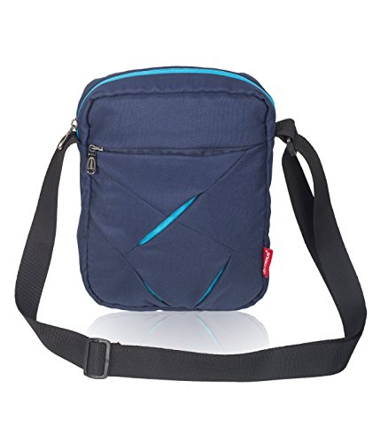 COSMUS Polyester 5 Ltr Navy Blue & Turquoise Blue Messenger Bag