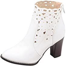 Amazon.es: botines grises - Blanco