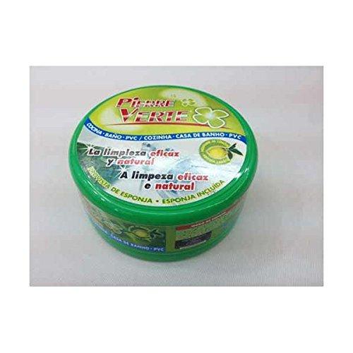 Arcilla blanca original, Piedra Verde limpadora pulidora natural para metales, PIERRE VERTE, Incluye esponja. Limpieza fregaderos, bases cazuelas, sartenes