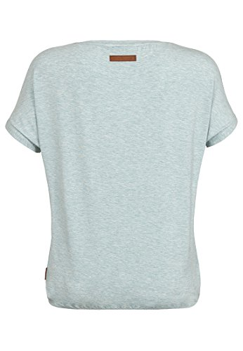 Naketano Female Shortsleeve Die Gedudelte V Nasty Mint Melange