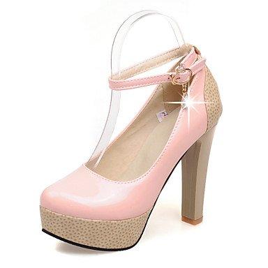 Zormey Frauen Schuhe Pu-Ferse Fersen/Round Toe Heels Outdoor/B¨¹ro & Amp Karriere / Kleid Schwarz/Rosa/Mandel US5 / EU35 / UK3 / CN34