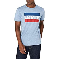 Levi's Graphic Camiseta, Azul (Sportswear Logo Allure Blue Heather 0005), X-Large para Hombre