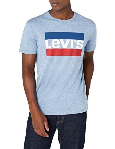 Levi's Herren Sportswear Logo Graphic T-Shirt, Blau Allure Blue Heather 0005, XL -