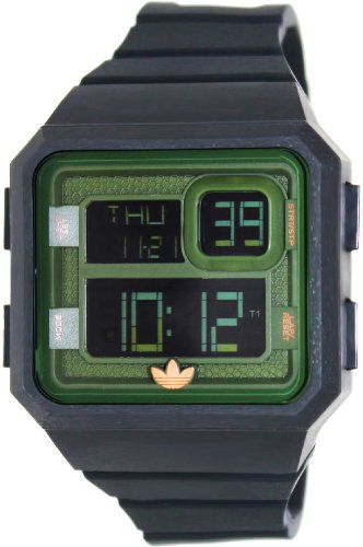 Adidas Men's Santiago ADH2883 Black Silicone Quartz Watch with Digital Dial