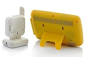 High-Tech Place Babyphone sans fil avec vision de nuit - double sens audio, détecteur de mouvements, écran LCD 7
