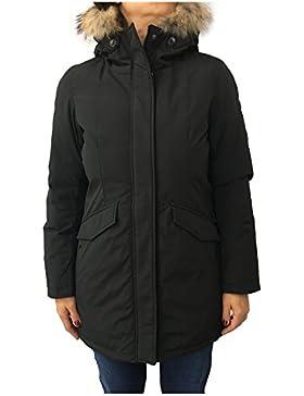 NORWAY giaccone donna 3/4 nero mod BERTHE 75092 cappuccio con pelliccia vera