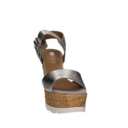 Igi&Co 7869 Sandalo zeppa Donna Argento