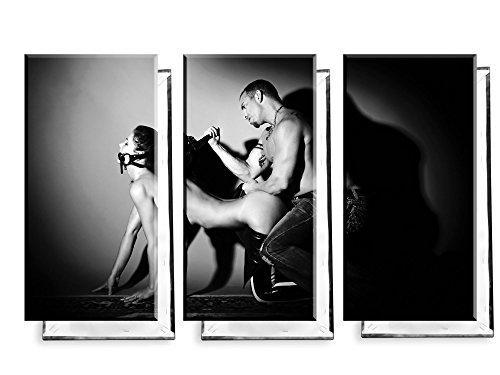 Meister und Sklavin - Dreiteiler (120x80 cm) - Bilder & Kunstdrucke fertig auf Leinwand aufgespannt und in erstklassiger Druckqualität (Sklavinnen Bilder)