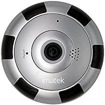 IP Cámara, IMATEK V302 Plata H.264 HD 720p Cámara de red IP inalámbrica WiFi infrarrojos Día y Noche Plug & Play ocultos invisibles discreto fisheye panorámica de la cámara VR la cámara de vigilancia de seguridad.
