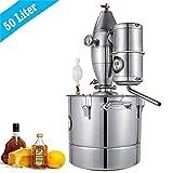 InLoveArts Home 11Gal Wasser Alkohol Distiller 304 Edelstahl, Weinherstellung Kessel mit Thermometer Wird verwendet, um Petal reinen Tau, ätherische Öle, Fruchtwein, destilliertes Wasser zu Machen.