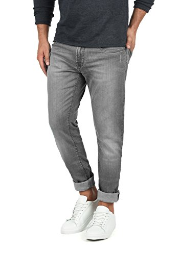 INDICODE Quebec Herren Jeans-Hose lange Hose Denim aus hochwertiger Baumwollmischung Regular-Fit, Größe:W38/34, Farbe:Light Grey (901) (Grey Baumwolle Jean Denim Light)