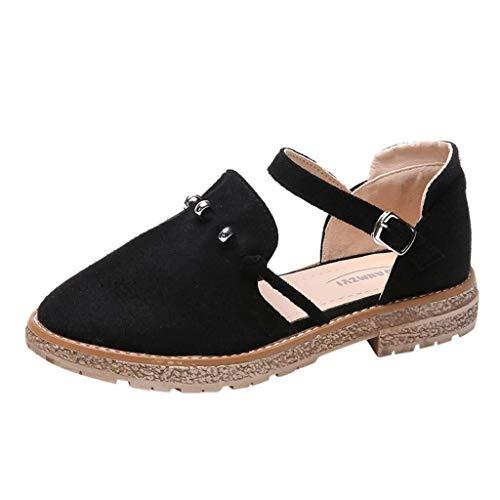 Sandali Estivi Donna Eleganti High Heels Punta Chiusa Tacchi Alti con Cinturino Caviglia Basse Scarpe da Matrimonio Festa Sandalo (Color : Nero, Size : 38 EU)