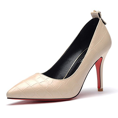 laikajindun-elegant-womens-artificial-leather-pointed-mouth-checkered-highheels