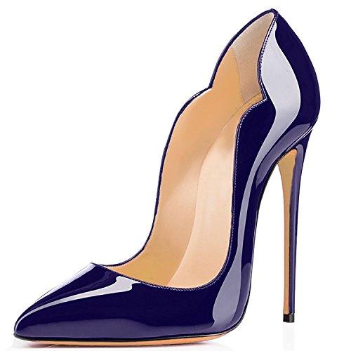 uBeauty - Scarpe da Donna - Scarpe col Tacco - Classiche Scarpe col Tacco blue-A