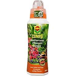 COMPO Mediterraner Pflanzendünger für mediterrane Pflanzen, Spezial-Flüssigdünger mit extra Kalium und Eisen, 500 ml