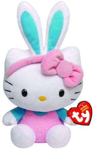 ty-40983-hello-kitty-baby-oreilles-de-lapin-beanie-babies-paques-15-cm-bleu