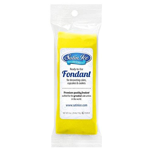 Satin Ice Packaged Fondant 4oz-Yellow Vanilla Satin-dessert