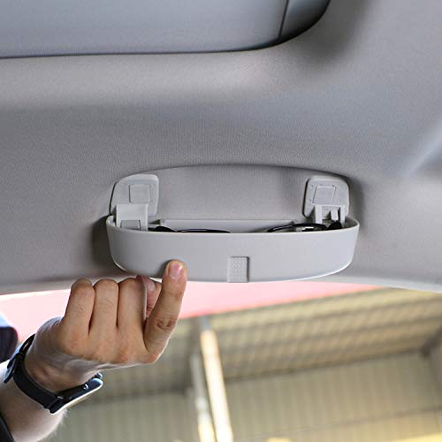 LFOTPP Auto Sonnenbrillenhalter Brillenetui Auto Innenraum für Golf 7 Tiguan Passat B8 Atlas L (Grau)